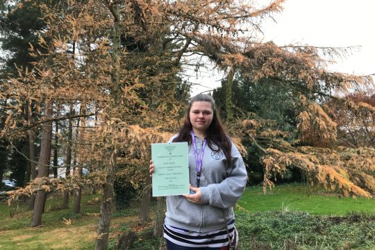 Brooksby Melton College Student Wins Horticulture Award from Leicestershire and Rutland Gardens Trust!