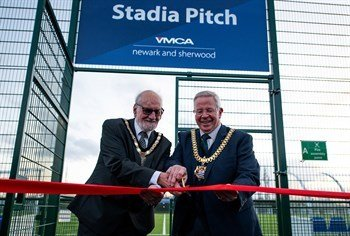 Double Delight in Newark as two new all-weather pitches support development of Sports Community Village.