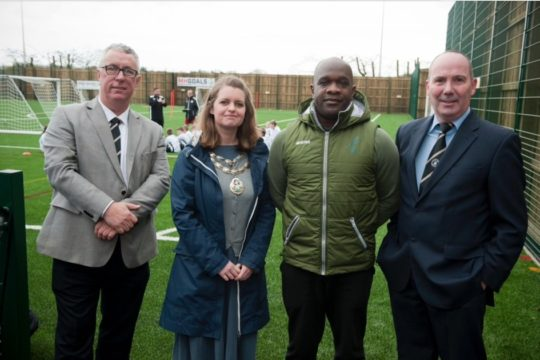 Adrian Forbes unveils new all-weather pitch at grassroots club in Suffolk