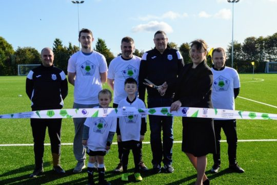 Players at Killingworth Young People's Club United at one venue thanks to opening of new 3G pitch
